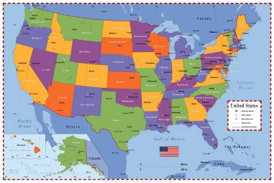 United States Map United States Map States And United States - Map of us in 1787