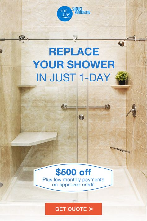Our Shower Systems Can Be Installed In Only 1 Day So You Do Not Have To Worry About Long Project Timelines And Expensive Remodeling Cho Shower Remodel Remodel