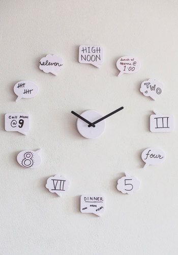 Horloge version BD - Avec des bulles à personnaliser !