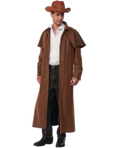 Men S Western Cowboy Range Rider Faux Leather Duster Coat Costume Duster Coat Coat Western Cowboy