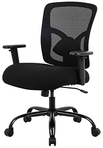 Big And Tall Office Chair 400lbs Wide Seat Desk Chair Computer Chair With Lumbar Support Adjustable Arms Task Rolling Swivel Mesh Executive High Back Ergonomic Tall Office Chairs Ergonomic Chair
