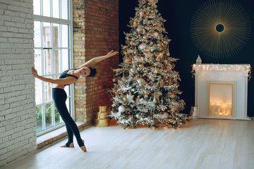 Yoga Christmas Yoga Class At Home Sponsored Christmas Yoga Home Class Ad In 2020 Yoga Christmas Christmas