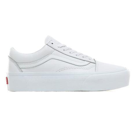 Leather Old Skool Platform Shoes White Vans Zapatos Nike Para Damas Zapatillas Blancas Mujer Tenis Vans Blancos