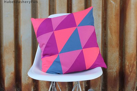 DIY.. Half Square Triangle Pillow   Haberdashery Fun