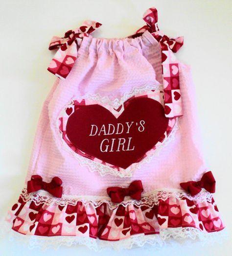 Daddys Little Girl Valentine Pillowcase Dress ~