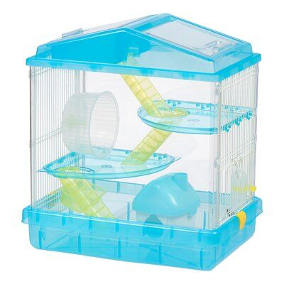 Iris 3 Tier Hamster Cage W Feeder With Images Hamster Cage