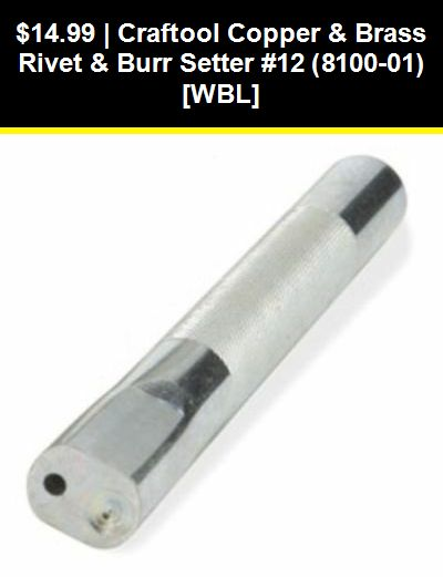 """FREE SHIPPING! Hand Spot Setter w//Anvil 3//8 /"""" by Tandy"""