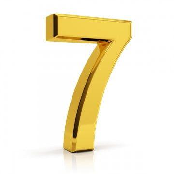 Gold Number 7 7 Number Number 7 Png Transparent Clipart Image And Psd File For Free Download Linux Gold Best Vpn