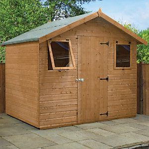 Mercia 6 X 8 Ft Pressure Treated Shiplap Apex Shed With Assembly In 2020 Apex Shed Shed Wooden Sheds