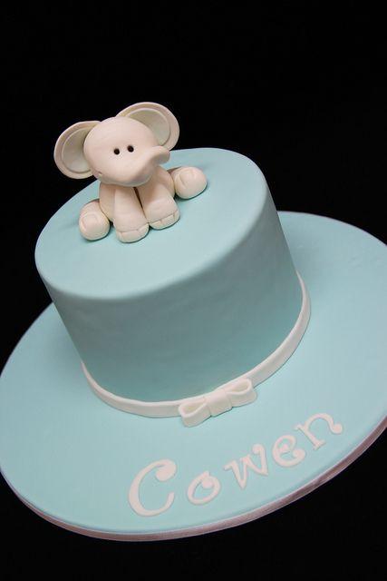 Elephant Christening Cake By Belle Maison Cakes Brisbane Australia Via Flickr