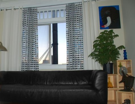35mm slide curtains 35mm Slides Made into Curtains