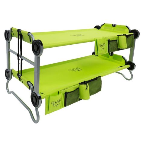 Kid O Bunk 65 In Lime Green Bunk Beds With Organizers Camping
