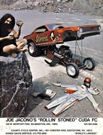 """Vintage Drag Racing - Funny Car - Joe Jacono's """"Rollin Stoned"""" Cuda"""