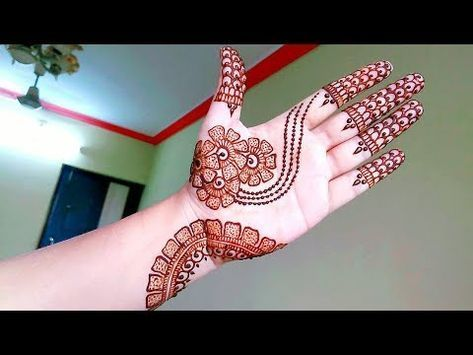 How To Apply Simple Arabic Mehndi Designs For Back Hands