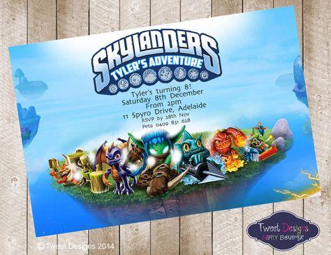 Skylanders Printable Birthday Invitation By TweetPartyBoutique
