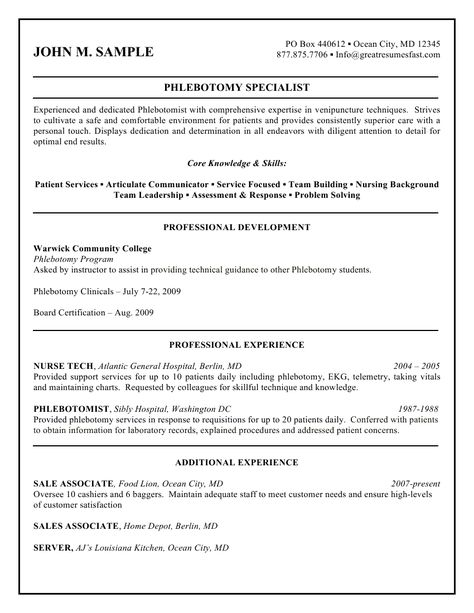 7 best Resume help images on Pinterest Health, Home design and - phlebotomist resume examples