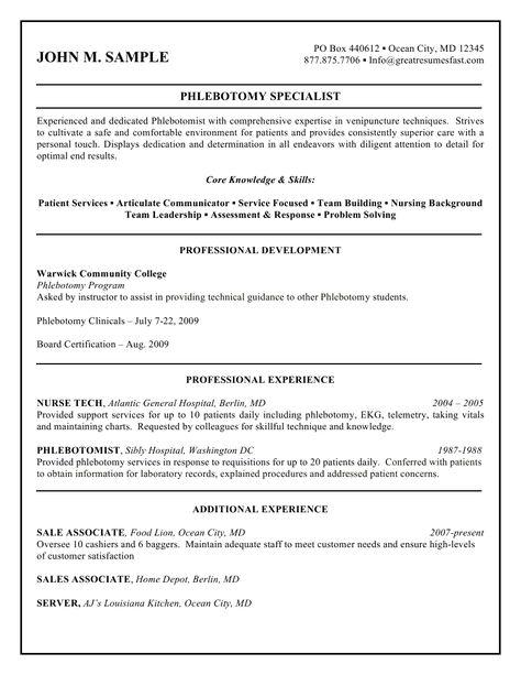 7 best Resume help images on Pinterest Health, Home design and - sample phlebotomy resume