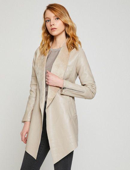 Deri Gorunumlu Trenckot Kadin Giyim Moda Stilleri Moda
