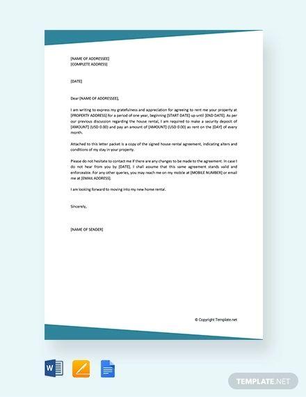 10 Rental Agreement Letter Doc Pdf Scholarship Thank You