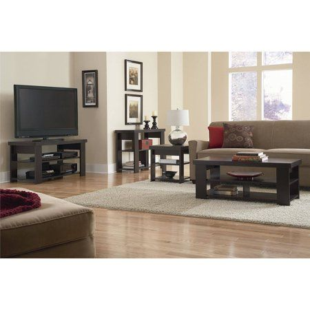 Ameriwood Home Jensen Coffee Table Espresso Add A Modern Touch To Your Living Room With The A With Images 3 Piece Living Room Set Living Room Table Sets Living Room Sets