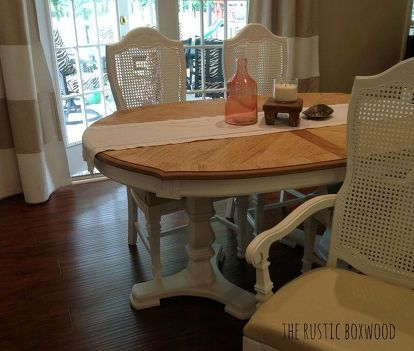 Vintage Dining Table And Cane Chairs Transformation Dining Table