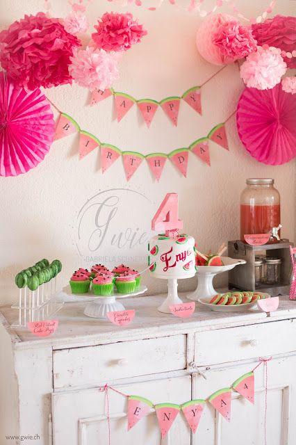 Watermelon Parties Watermelon Birthday Parties Girl Birthday Decorations Watermelon Birthday