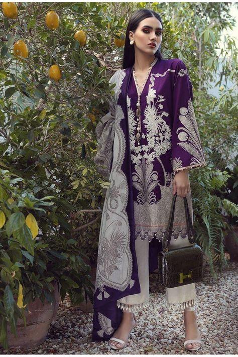Muzlin Lawn Collection By Sana Safinaz Pakistani Salwar Kameez SS-12A
