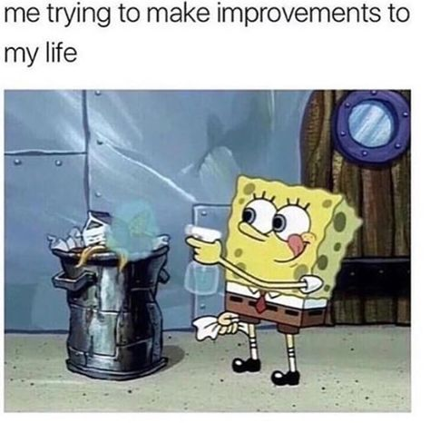 Who lives in a pineapple under the sea and is relatable AF? SpongeBob SquarePants!!!