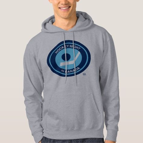 Hockey Night In Canada Retro Hoodie Zazzle Ca Hoodies Hooded Sweatshirts Retro Logo