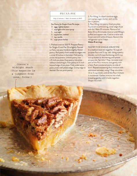 Joanna Gaines' Pecan Pie Recipe