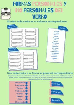 Formas Personales Y No Personales Del Verbo Idioma Español O Castellano Curso Nivel 5º Primaria 6º D Verbos Ejercicios Interactivos Cuadernos Interactivos