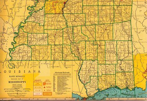 1930s Animated LOUISIANA State Map RARE Map Reprint Map of Louisiana usbl