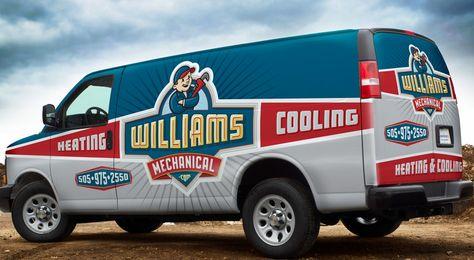 Vehicle Wrap Design For Williams Mechanical Nj Advertising
