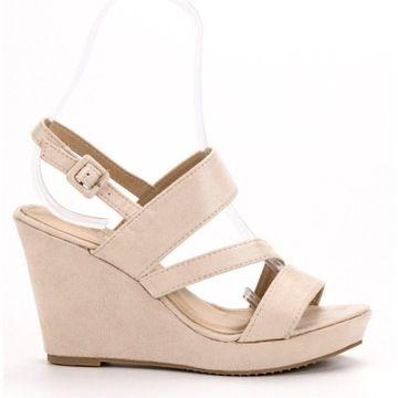 Sandalki Na Koturnie R 36 7986037605 Oficjalne Archiwum Allegro Shoes Wedges Fashion
