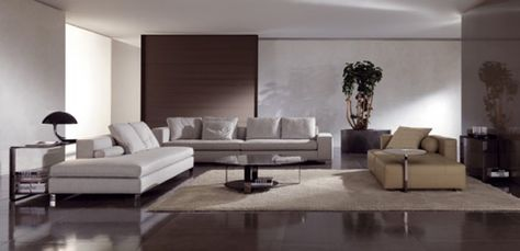 Modern Living Room With Glass Coffee Table Bresson By Minotti | Living Room  | Pinterest | Modern Living Rooms, Modern Living And Table Furniture
