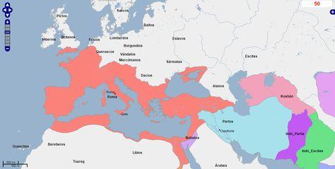 Mapa Africa Del Norte.Ver En Pinterest 93 Mapa De Europa Oriente Medio Y Africa Del Norte Ano 50 Fuente Geacron Com Imperio Romano De Oriente Mapas Europa