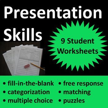 Presentation Skills Worksheet Activities Printable And Or Distance Learning Presentation Skills Speaking Skills Effective Presentation