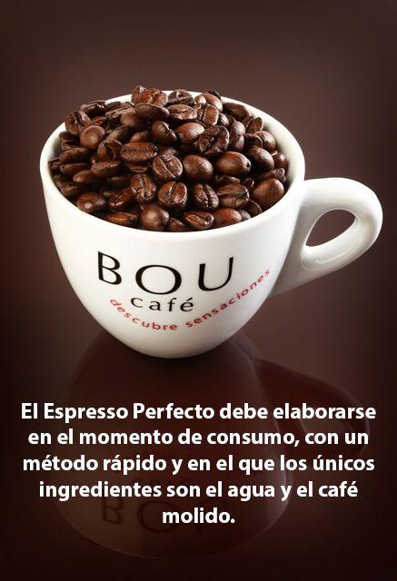 El Espresso Perfecto debe elaborarse en el momento de consumo, con un método rápido y en el que los únicos ingredientes son el agua y el café molido.