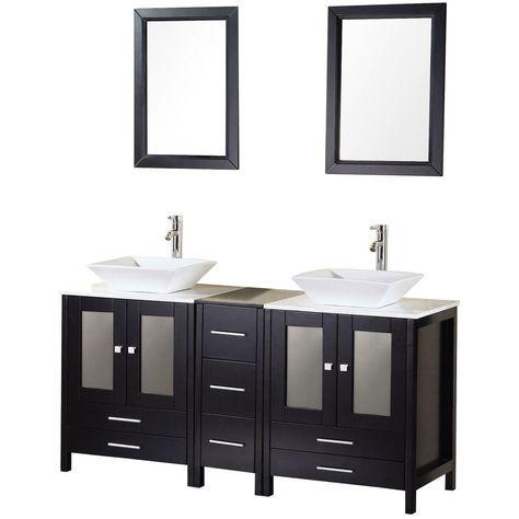 Design Element Arlington 61 In W X 22 In D Vanity In Espresso