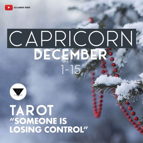 YouTube Channel: 33 & Above Tarot. #33andAboveTarot #PsychicMedium #CapricornSun #CapricornRising #CapricornMoon #CapricornGang #CapricornVenus #Capricorngirl #Capricornboy #CapricornNation #Capricornwoman #Capricornman #Capricorn #CapricornTarot #CapricornLove #Capricornsbelike #Clairvoyant #DecemberReading #TarotReader #Tarot #December2019 #Tarot #Soulmate #TarotReading #SpiritualTeacher #LoveReading #Divorce #Separation #Marriage #Dating #Relationships #CareerAdvice #Astrology #VedicAstrology