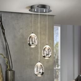 Lámpara Rocio Schuller 5 Colgantes cromo LED | Lámparas