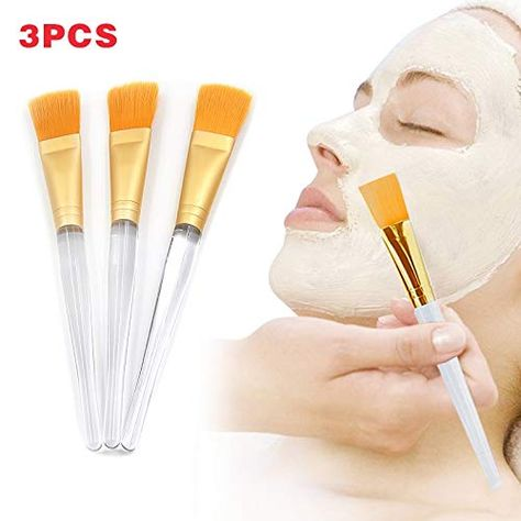ffc46f856544 Laliva 3 Pcs/Set Facial Mask Brush Clear Plastic Handle Skin Care ...