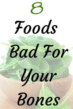 Beware of these foods that are bad for your bones.