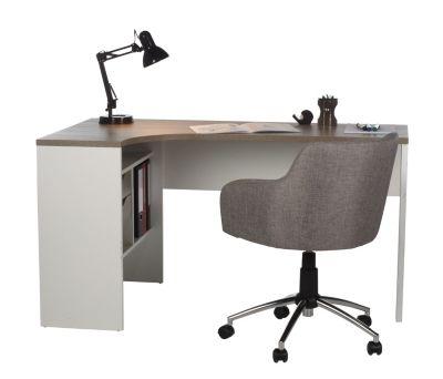 Bureau D Angle Alkor Imitation Chene Gris Blanc Bureaux But Bureau Angle Bureau But Bureau