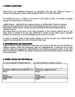 Social Media Service Level Agreement Template Rapport De Stage