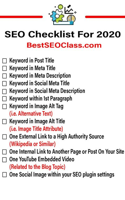 SEO Checklist For Bloggers in 2020 [ Boost Your Rankings ]