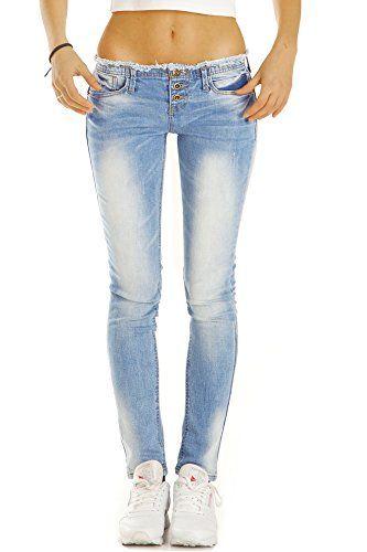 bestyledberlin Damen Jeans Skinny Fit Hosen Ausgefranst