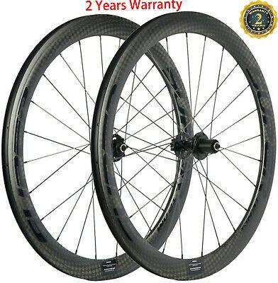 Details About 700c 50mm Disc Brake Carbon Wheels Road Bike