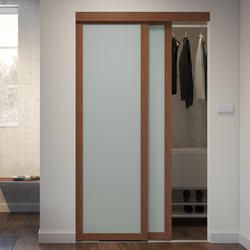 Add A Contemporary Touch To Any Closet Space With This Sliding Frosted Glass Door From Colonial Eleg In 2020 Glass Closet Doors Frosted Glass Closet Doors Glass Closet