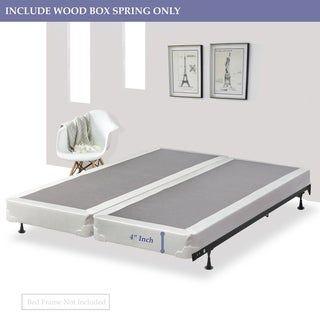 Continental Sleep 4 Inch Split Foundation Box Spring For Mattress Twin Xl Beige Mattress Futon Shop Furniture Plans